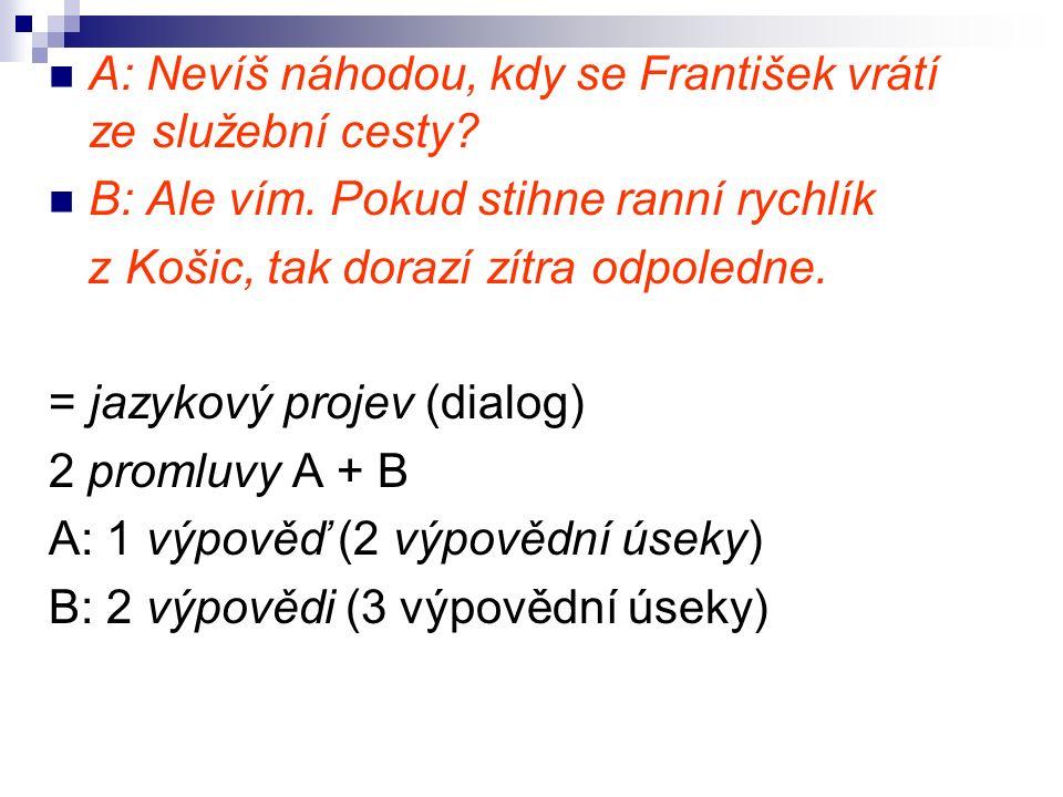 Ad TEXT jazykový projev = komunikát = diskurz = text < TEXT : jakýkoliv komunikát (i nejazykový) < TEXT : parole (manifestace jazykového systému) > TEXT : písemný verbální útvar (i neterminologické užití)