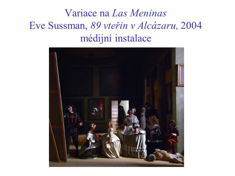 Variace na Las Meninas Eve Sussman, 89 vteřin v Alcázaru, 2004 médijní instalace
