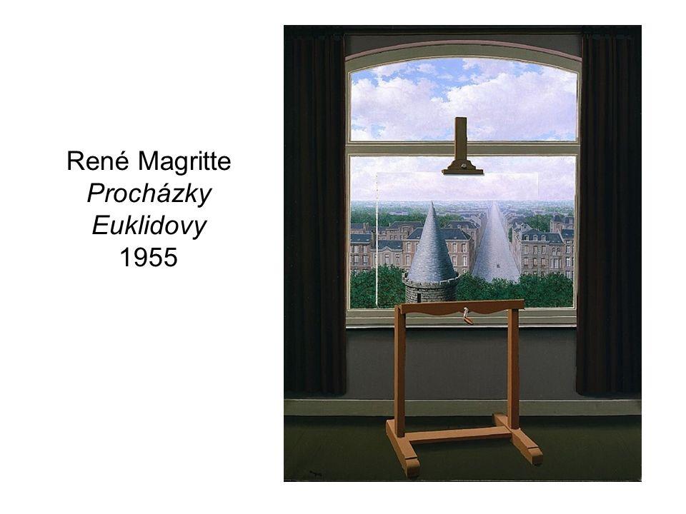 René Magritte Procházky Euklidovy 1955