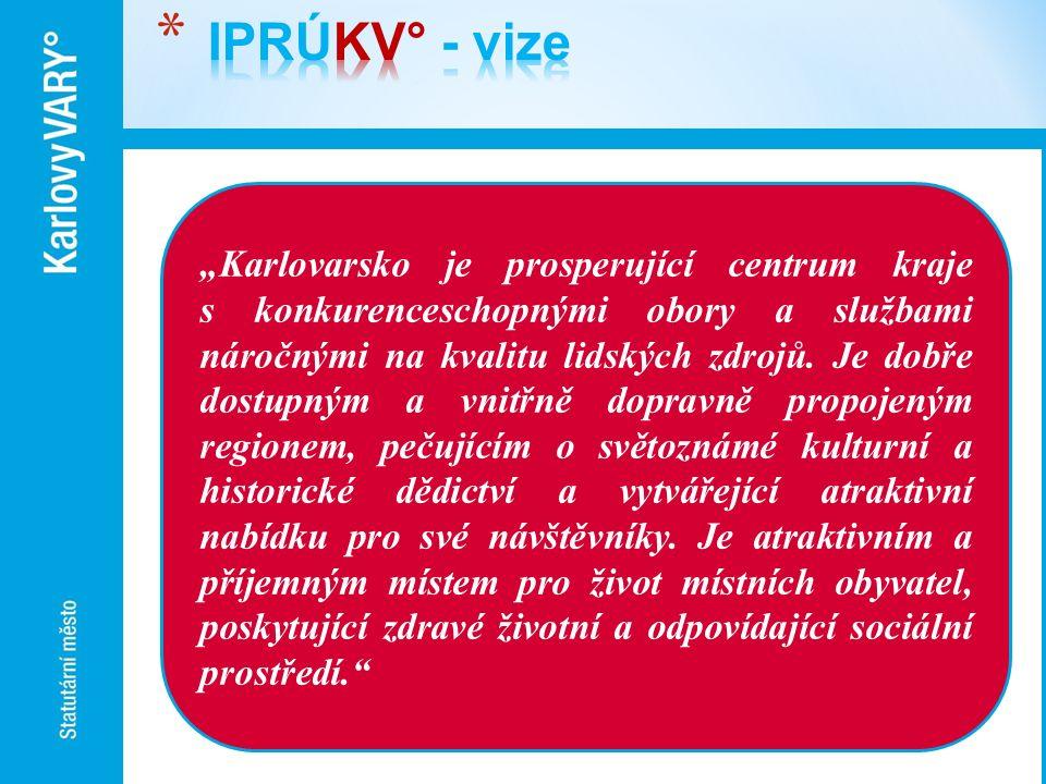 """""""Karlovarsko je prosperující centrum kraje s konkurenceschopnými obory a službami náročnými na kvalitu lidských zdrojů. Je dobře dostupným a vnitřně d"""