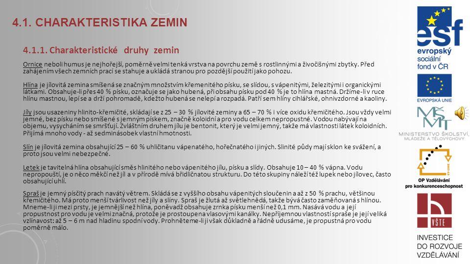 4.1.CHARAKTERISTIKA ZEMIN 4.1.1.