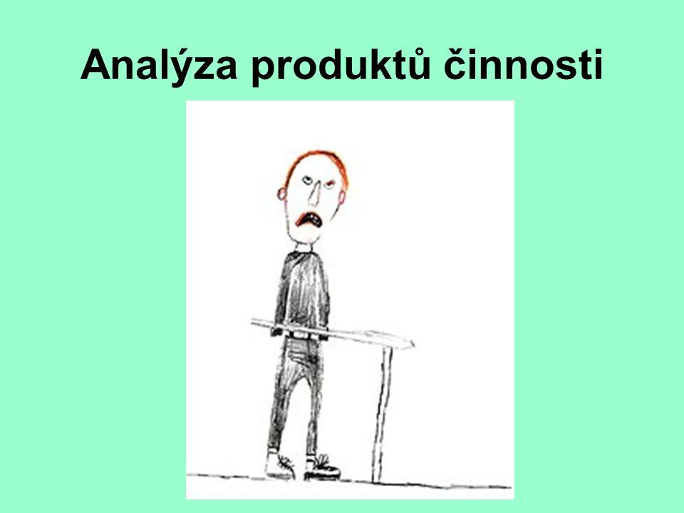 Analýza produktů činnosti