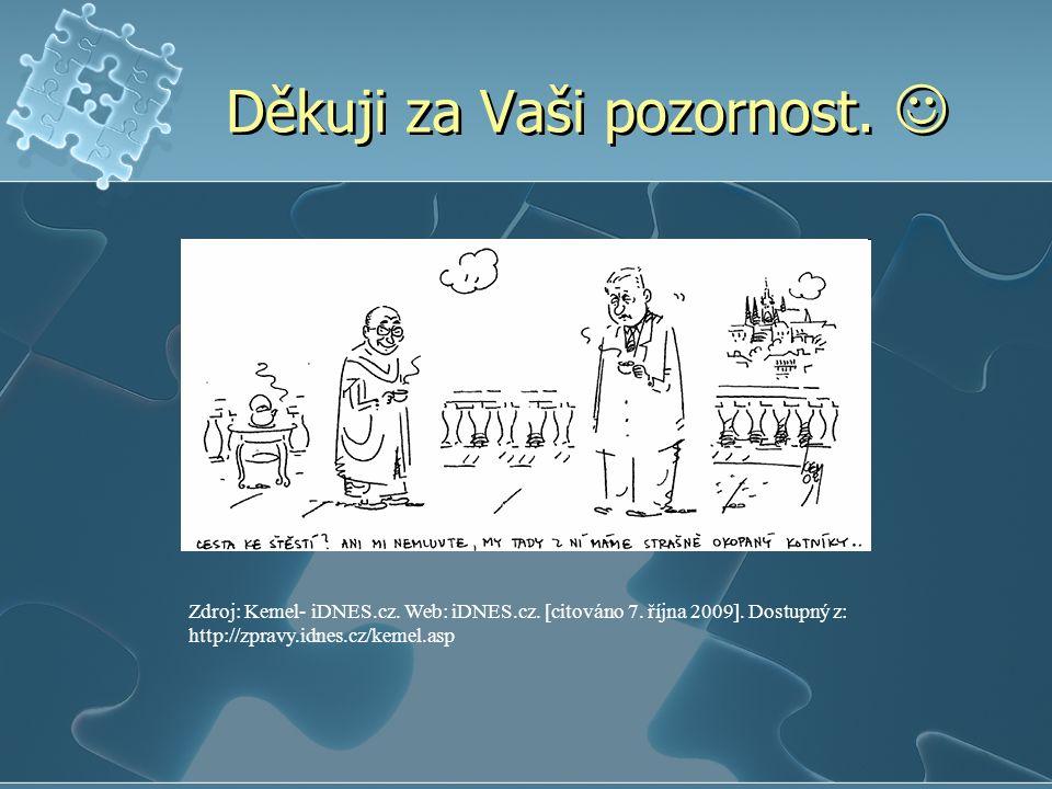 Děkuji za Vaši pozornost.Zdroj: Kemel- iDNES.cz. Web: iDNES.cz.