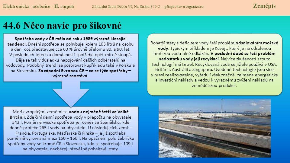 44.7 Acces to drinking water in the world Elektronická učebnice - II.