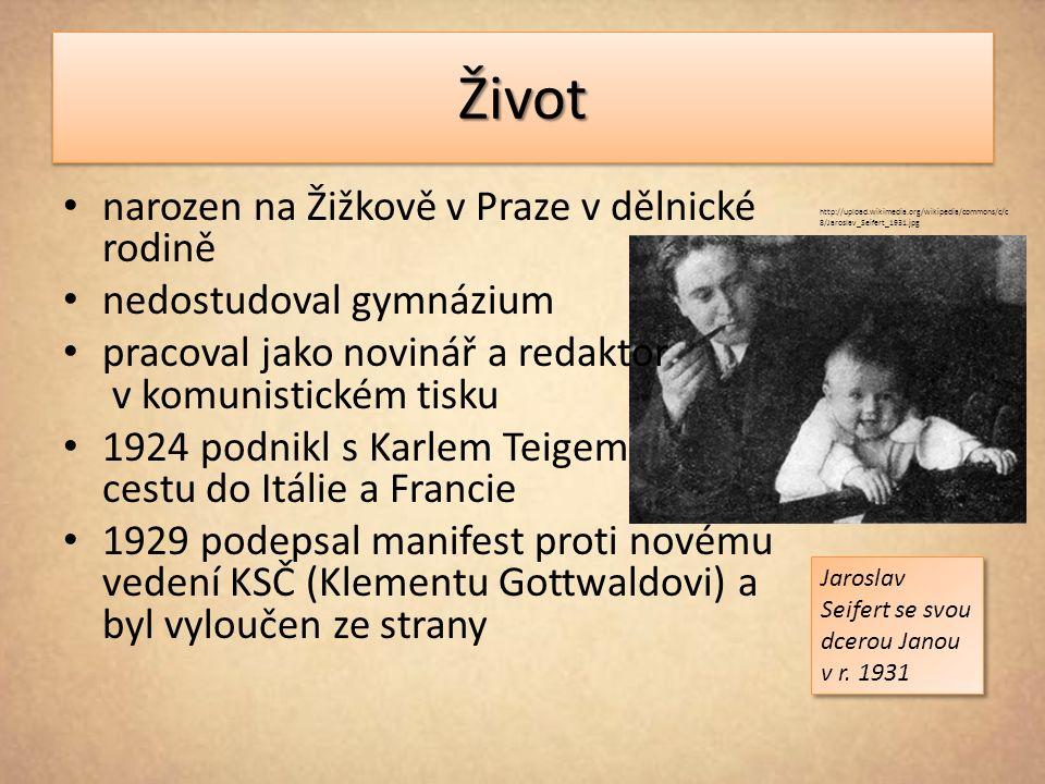 ŽivotŽivot narozen na Žižkově v Praze v dělnické rodině nedostudoval gymnázium pracoval jako novinář a redaktor v komunistickém tisku 1924 podnikl s K