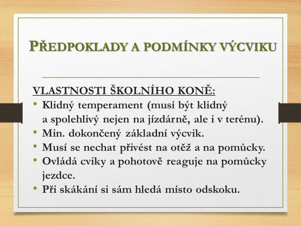 P LÁN ZÁKLADNÍHO VÝCVIKU JEZDCE 2.OBDOBÍ (21. - 40.