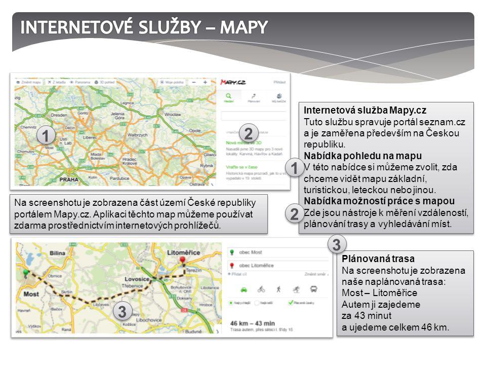 Plánovaná trasa Na screenshotu je zobrazena naše naplánovaná trasa: Most – Litoměřice Autem ji zajedeme za 43 minut a ujedeme celkem 46 km.
