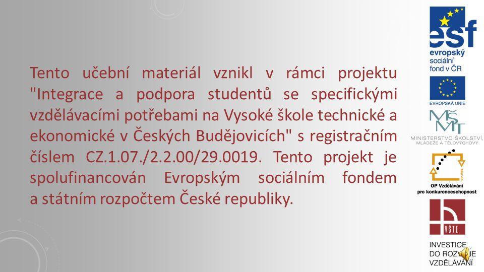 5. PŘÍČKY I. Vysoká škola technická a ekonomická v Českých Budějovicích Institute of Technology And Business In České Budějovice