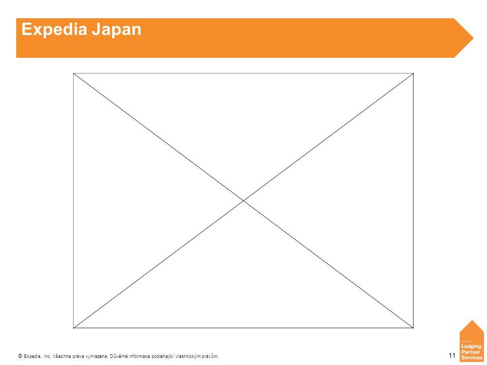 © Expedia, Inc. Všechna práva vyhrazena. Důvěrné informace podléhající vlastnickým právům. 11 Expedia Japan