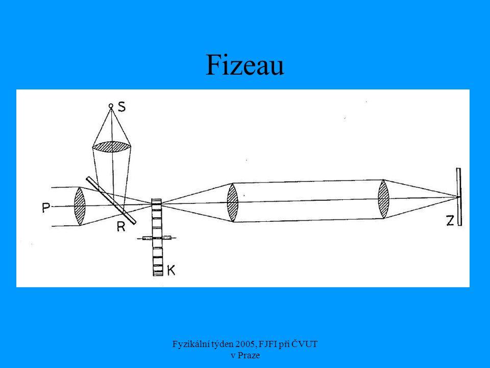 Fyzikální týden 2005, FJFI při ČVUT v Praze Fizeau