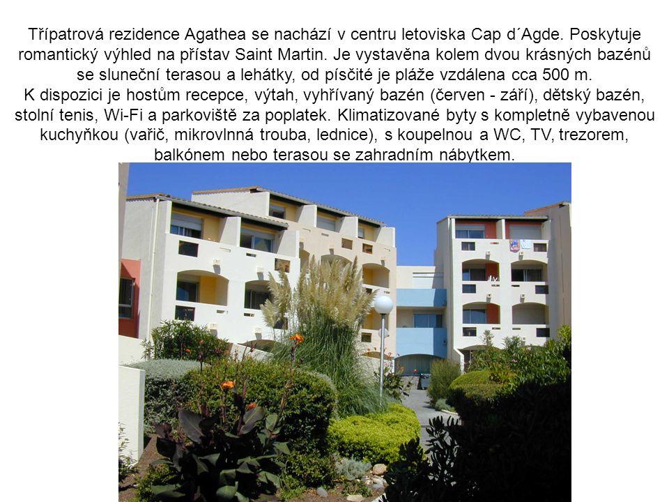 Třípatrová rezidence Agathea se nachází v centru letoviska Cap d´Agde.