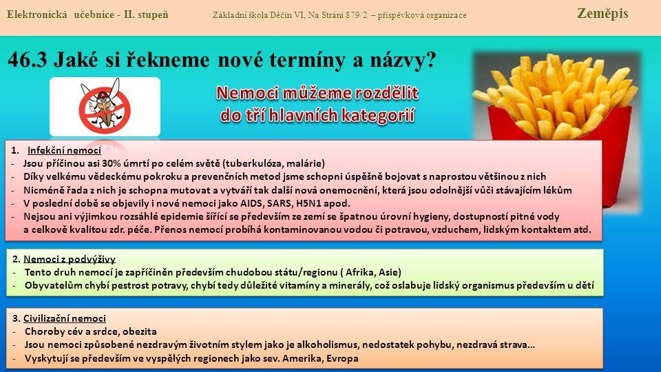 Elektronická učebnice - II. stupeň Základní škola Děčín VI, Na Stráni 879/2 – příspěvková organizace Zeměpis 46.3 Jaké si řekneme nové termíny a názvy