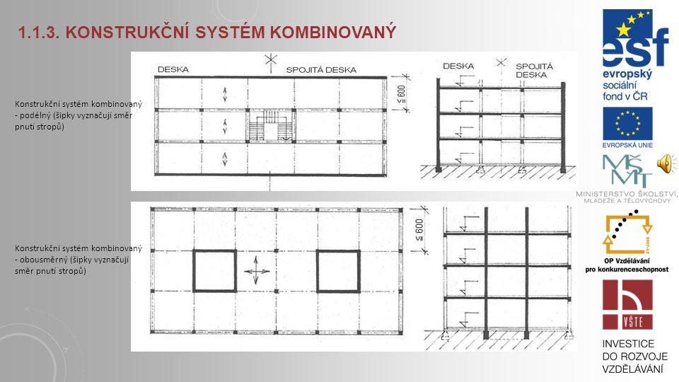 1.1.3. KONSTRUKČNÍ SYSTÉM KOMBINOVANÝ Vzájemné porovnání konstrukčních systémů ukazuje přednosti či nedostatky jednotlivých systémů. Jednou je to výro