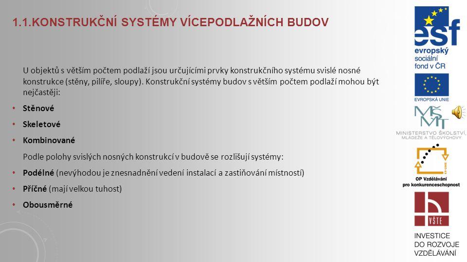 L EGENDA K LÍČOVÉ POJMY stěnový konstrukční systém, skeletový konstrukční systém, kombinovaný konstrukční systém, krabicový konstrukční systém, superk