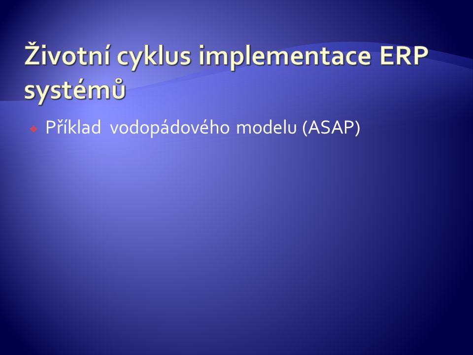  Příklad vodopádového modelu (ASAP)