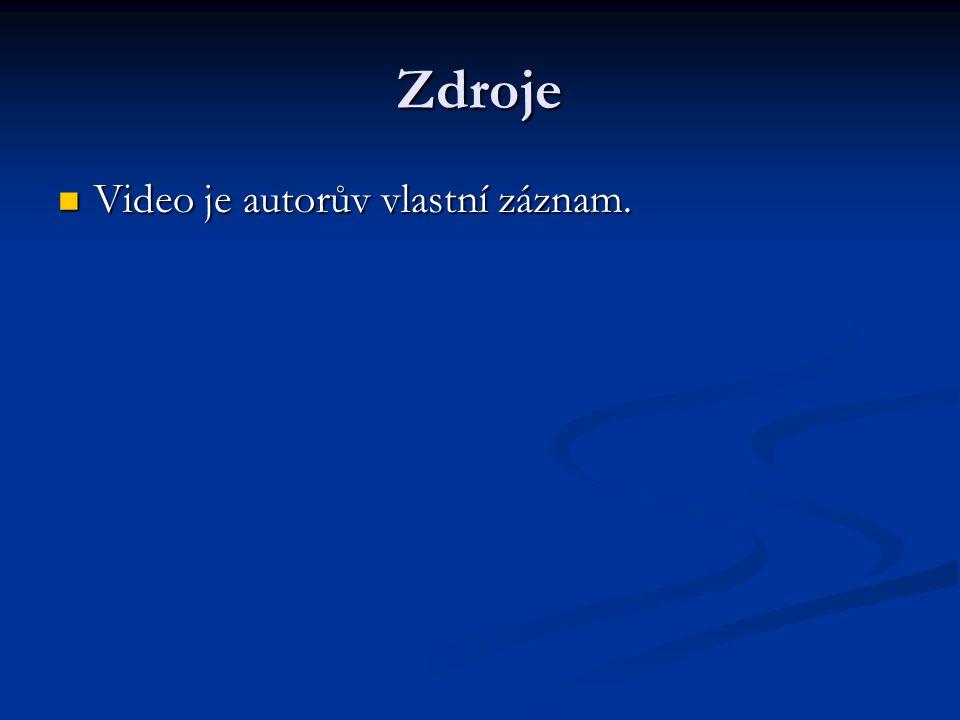 Zdroje Video je autorův vlastní záznam. Video je autorův vlastní záznam.
