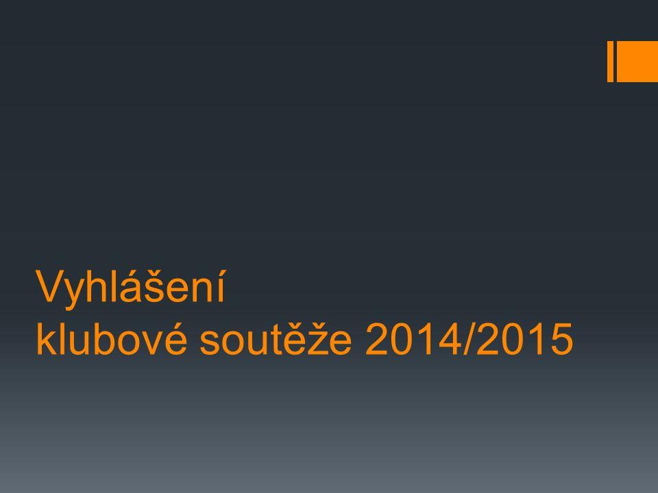 Vyhlášení klubové soutěže 2014/2015