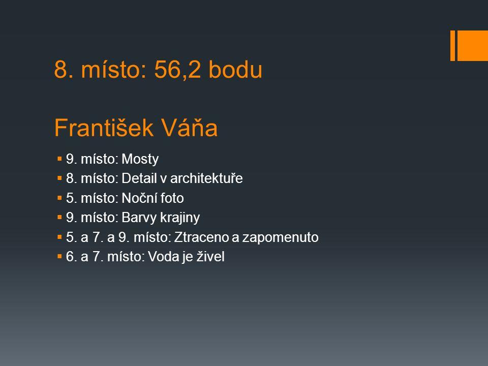 8. místo: 56,2 bodu František Váňa  9. místo: Mosty  8.