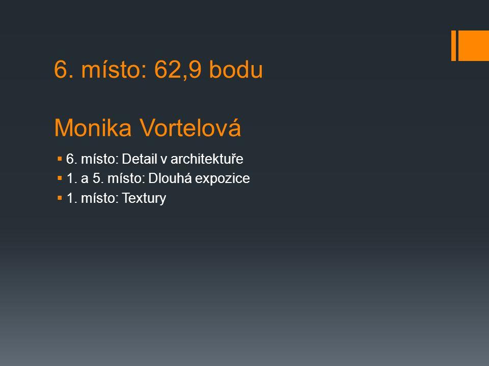 6. místo: 62,9 bodu Monika Vortelová  6. místo: Detail v architektuře  1.
