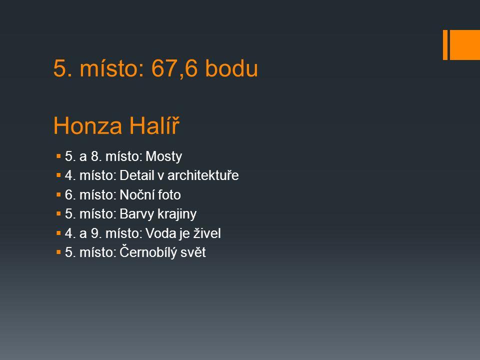 5. místo: 67,6 bodu Honza Halíř  5. a 8. místo: Mosty  4.