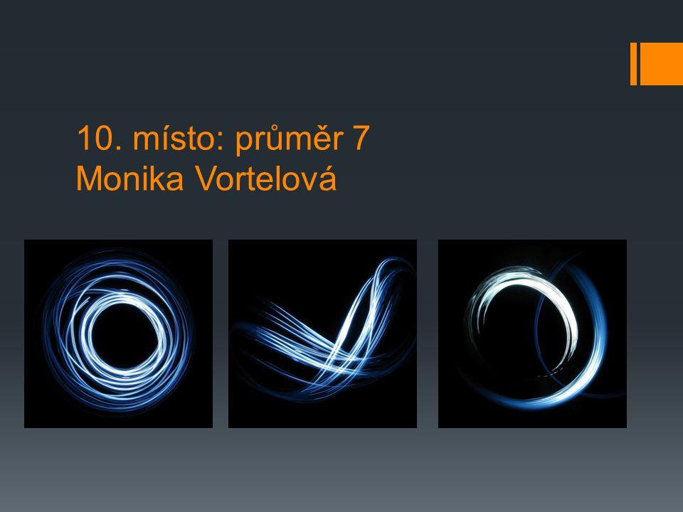 10. místo: průměr 7 Monika Vortelová