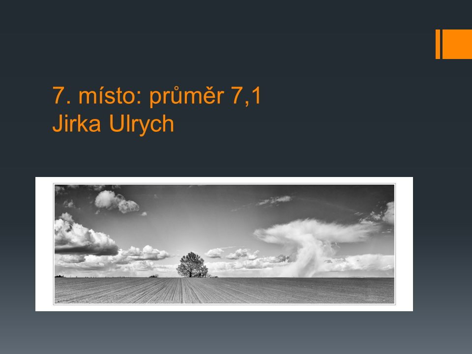 7. místo: průměr 7,1 Jirka Ulrych