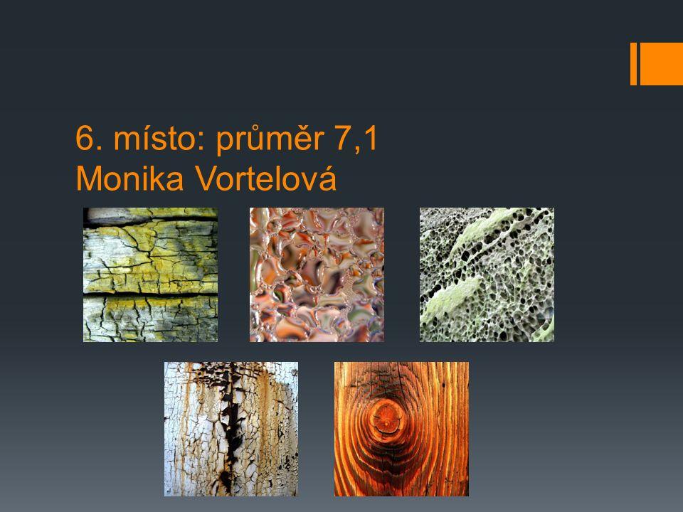 6. místo: průměr 7,1 Monika Vortelová