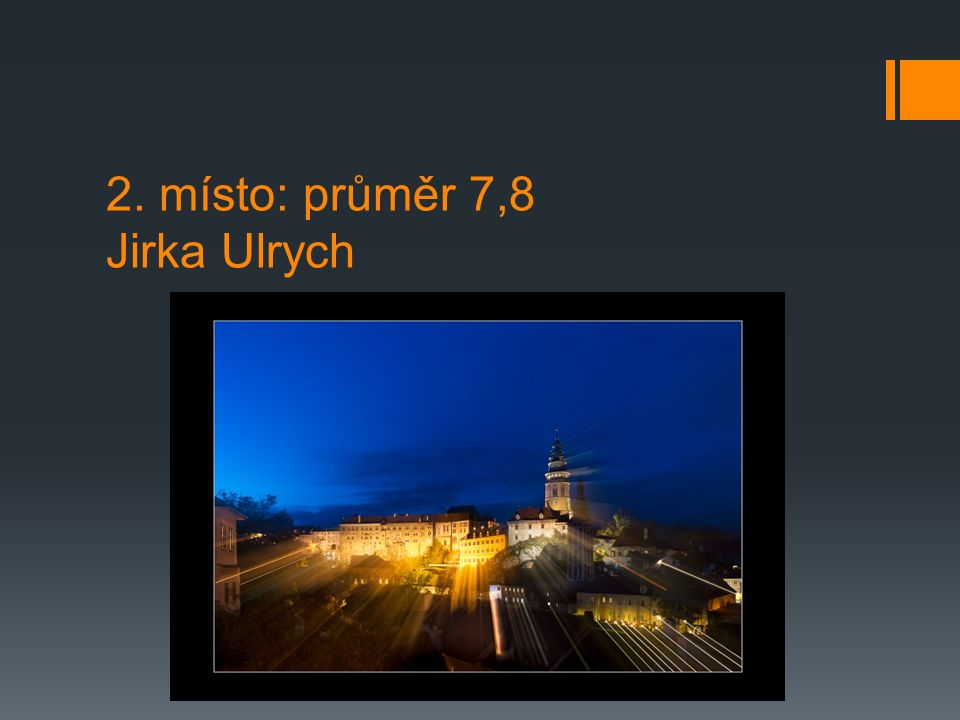 2. místo: průměr 7,8 Jirka Ulrych