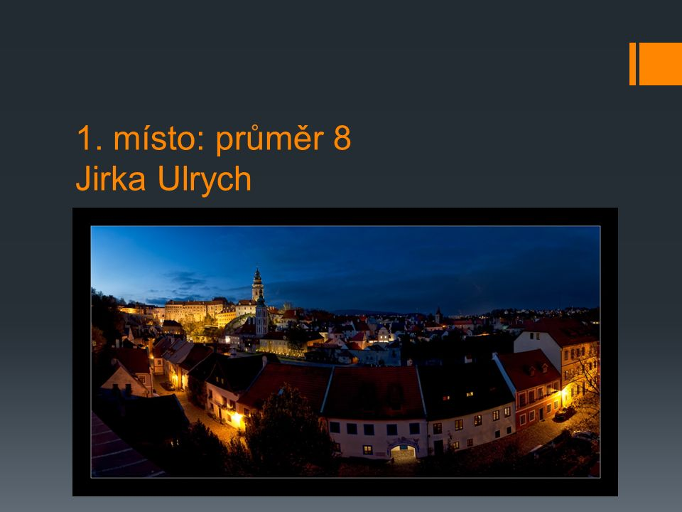 1. místo: průměr 8 Jirka Ulrych