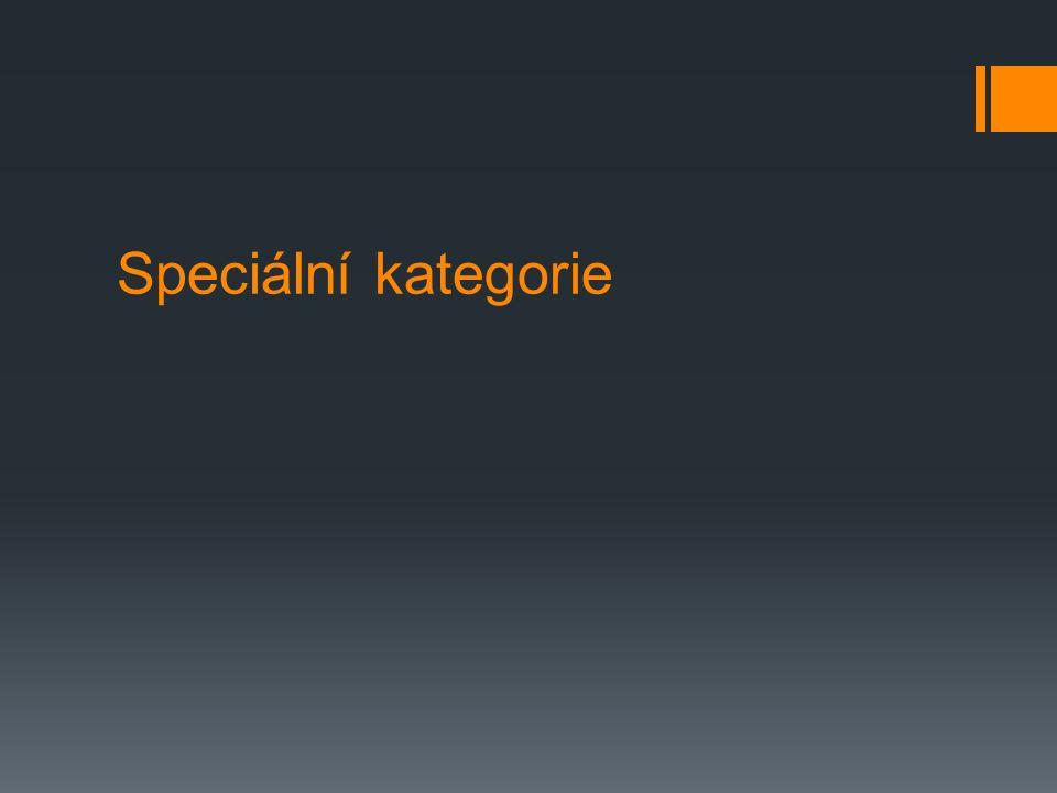 Speciální kategorie