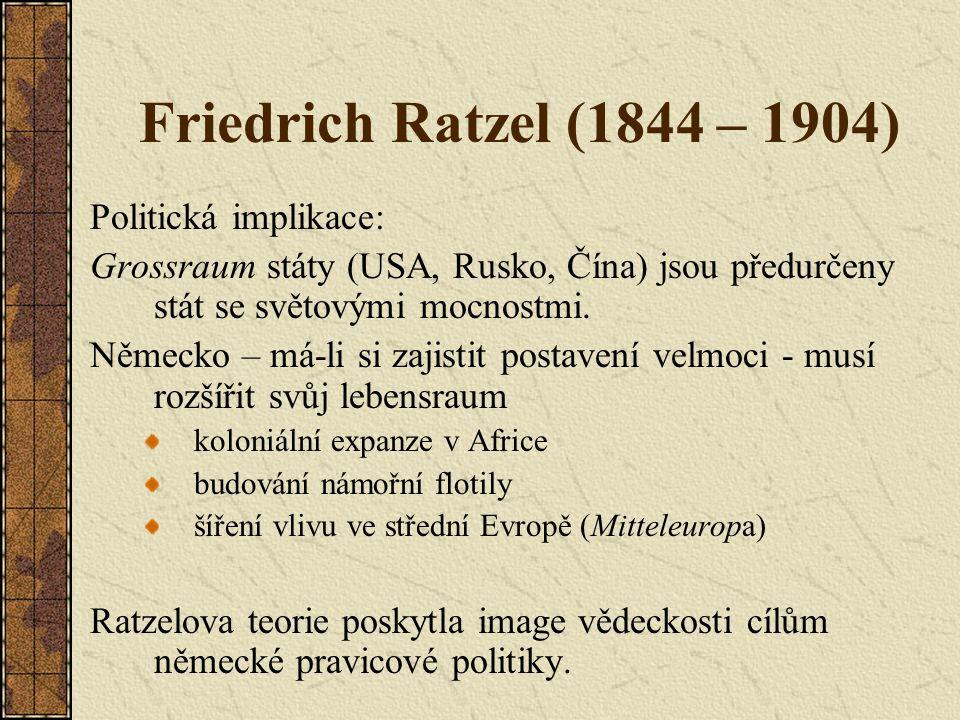 Nicholas Spykman (1893 – 1943) 1942 America's Strategy in World Politics 1944 The Geography of the Peace vychází z Mackindera Klíčovou oblastí však není heartland, ale rimland (= inner crescent), zvl.