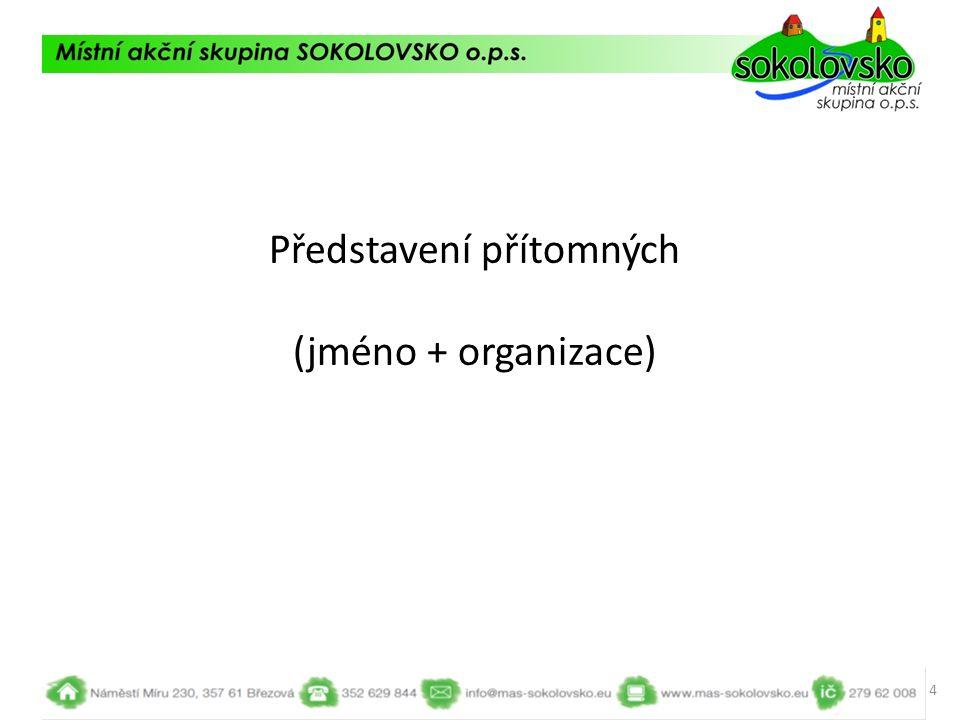 Představení přítomných (jméno + organizace) 4