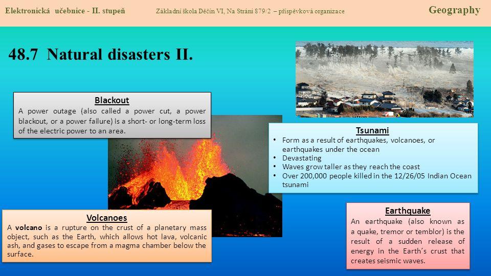 48.7 Natural disasters II. Elektronická učebnice - II.