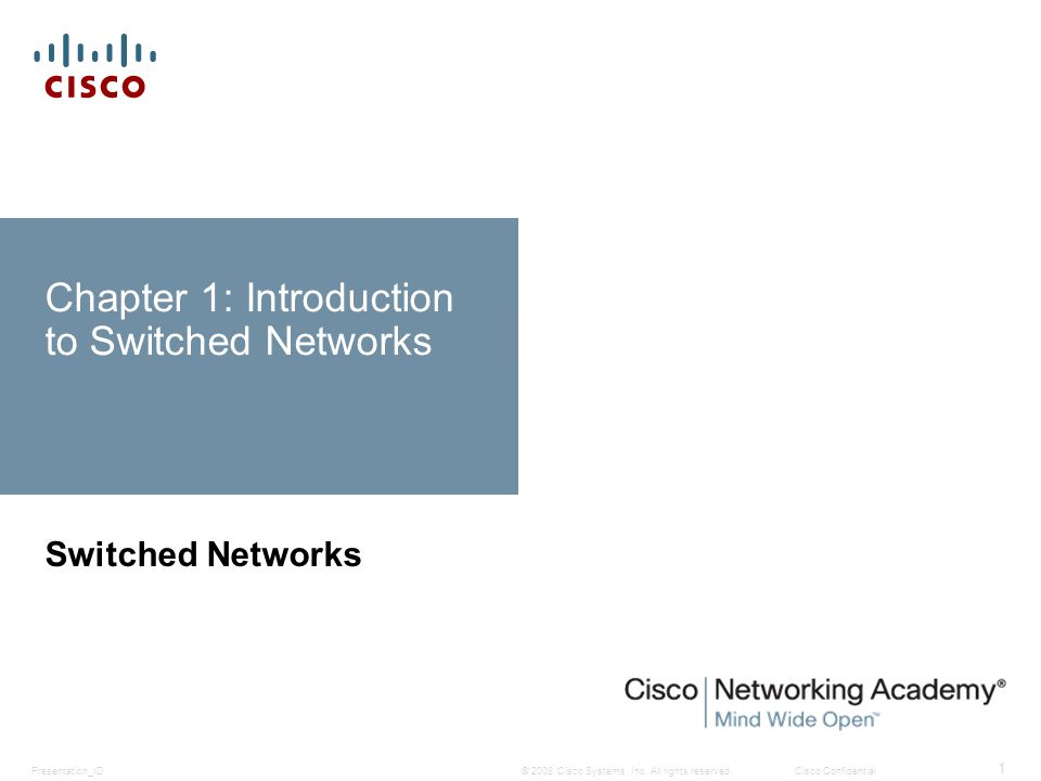 Chapter 1 1.0 Introduction 1.1 LAN Design 1.2 The Switched Environment 1.3 Summary