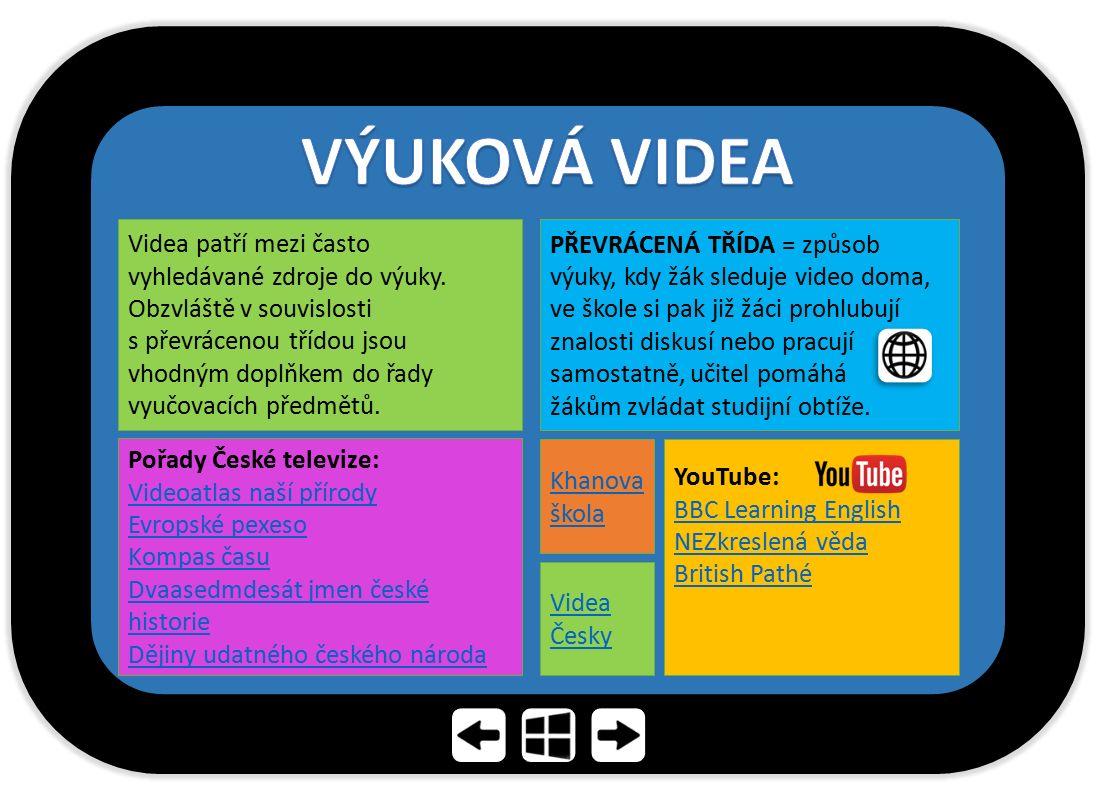 PŘEVRÁCENÁ TŘÍDA = způsob výuky, kdy žák sleduje video doma, ve škole si pak již žáci prohlubují znalosti diskusí nebo pracují samostatně, učitel pomá