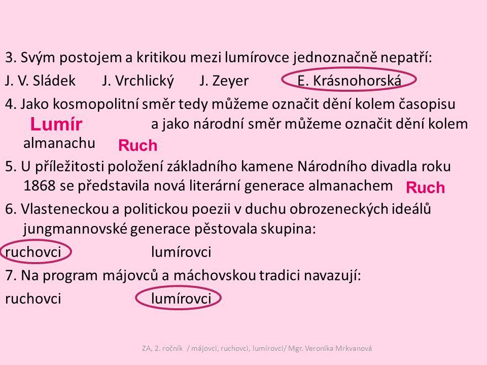 Použitá literatura Prokop, V.Literatura 19. a počátku 20.