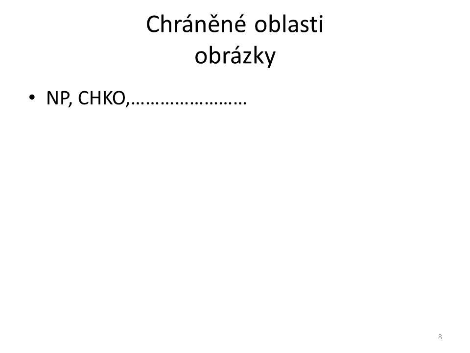 Chráněné oblasti obrázky NP, CHKO,…………………… 8