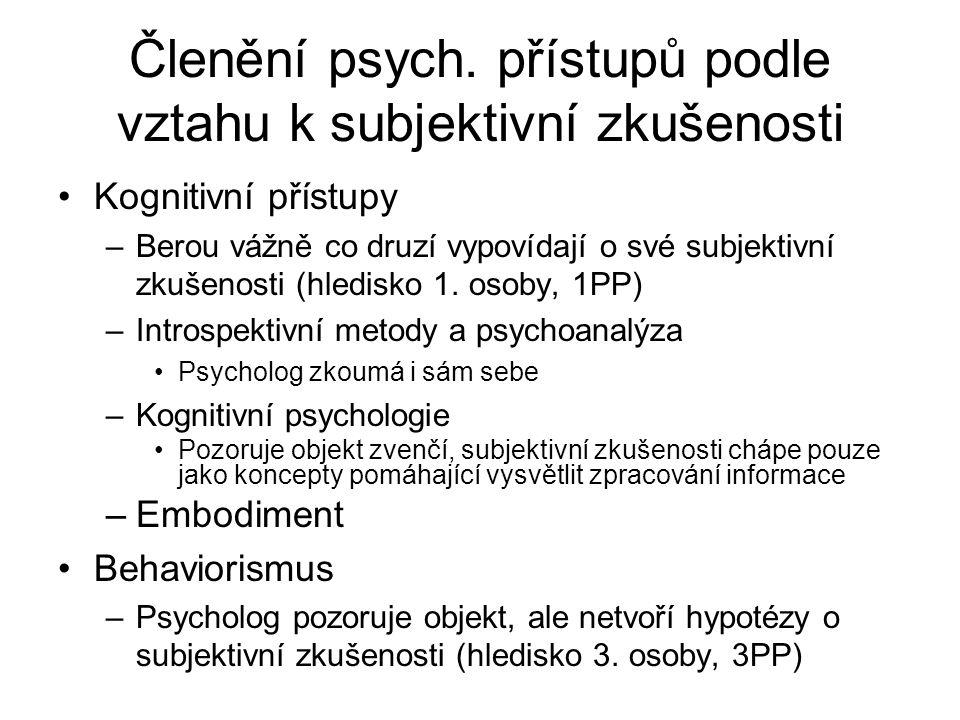 Členění psych.