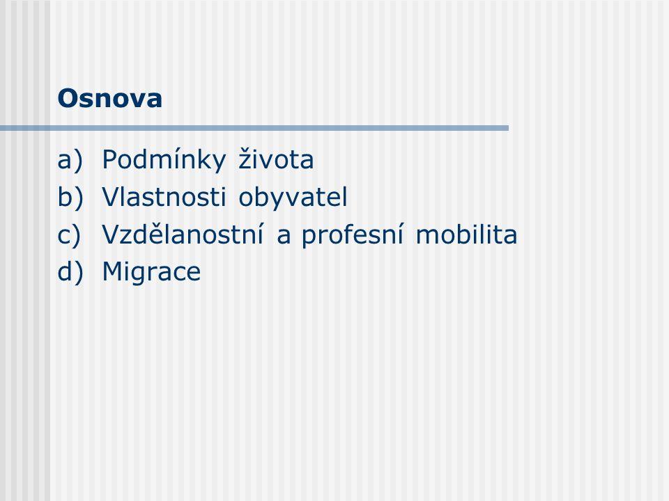 Vlastnosti obyvatel – Inovativnost Inovativnost populace Českého Krumlova je poměrně nízká Inovativní je pouze malá část obyvatel: mladí lidé (do 34 let) lidé s vyšším vzděláním studenti soukromníci Podíl inovátorů v populaci se dlouhodobě snižuje