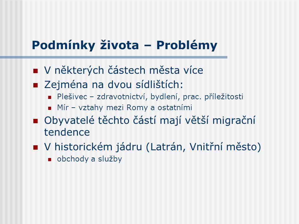 Migrace - Přistěhování Podíl respondentů narozených v Českém Krumlově dlouhodobě mírně stoupá