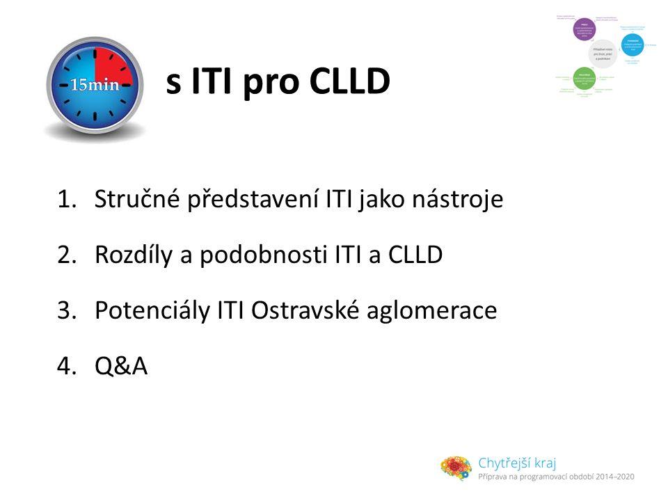 s ITI pro CLLD 1.Stručné představení ITI jako nástroje 2.Rozdíly a podobnosti ITI a CLLD 3.Potenciály ITI Ostravské aglomerace 4.Q&A