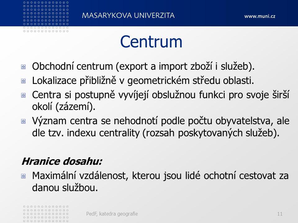 Administrativní princip k = 7 PedF, katedra geografie10