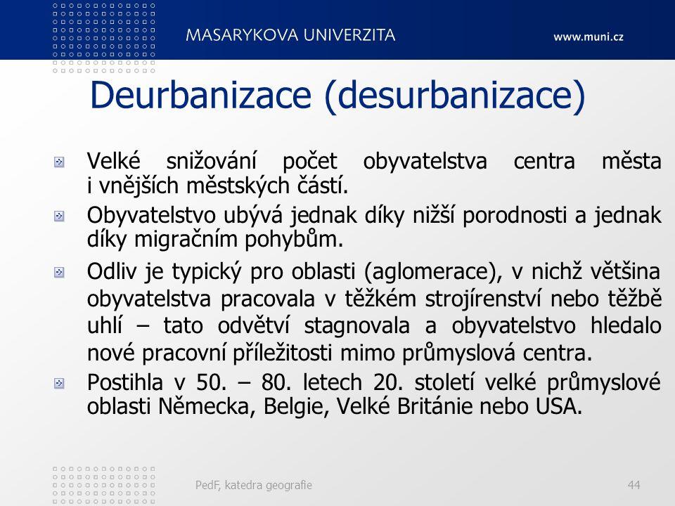 Suburbanizace – nové typy PedF, katedra geografie43