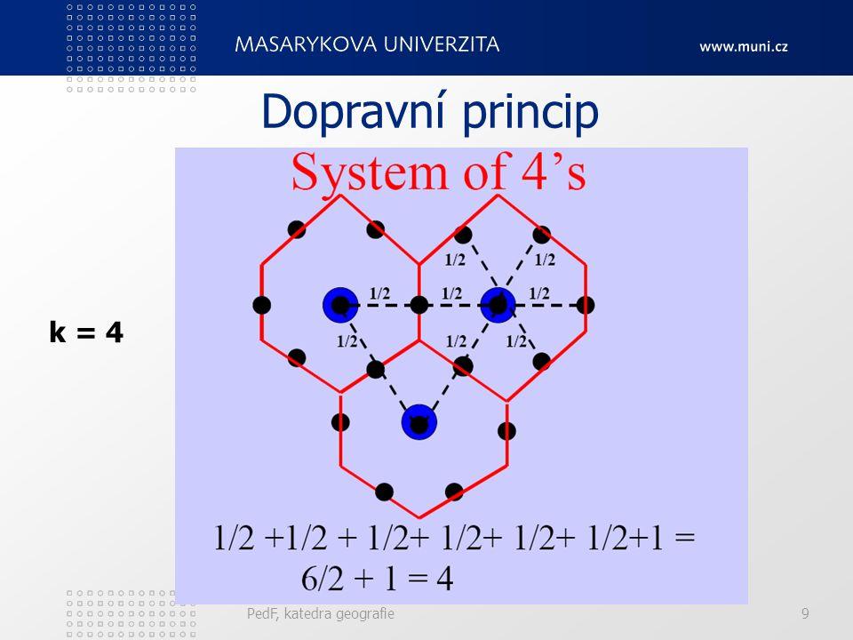 k = 6/3 + 1 = 3 Obslužný princip PedF, katedra geografie8