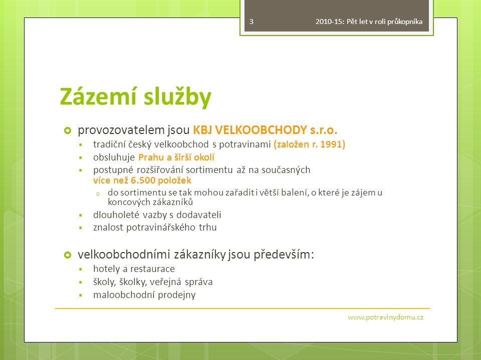 Zázemí služby  provozovatelem jsou KBJ VELKOOBCHODY s.r.o.  tradiční český velkoobchod s potravinami (založen r. 1991)  obsluhuje Prahu a širší oko