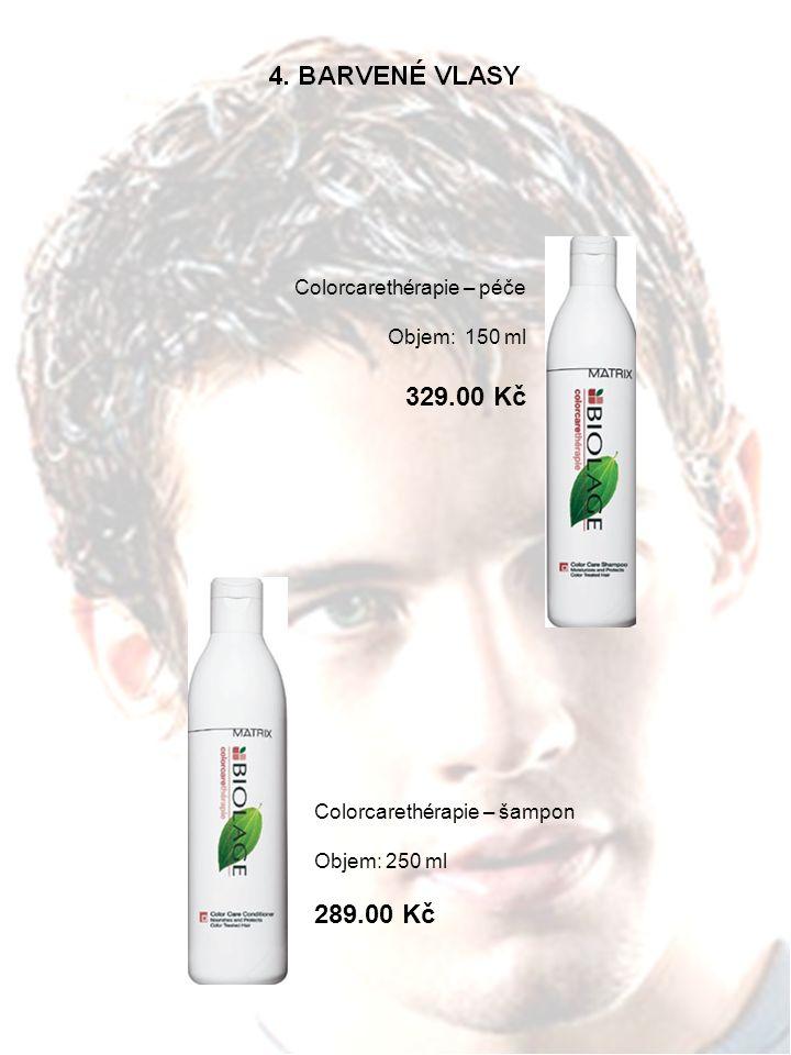 Colorcarethérapie – péče Objem: 150 ml 329.00 Kč Colorcarethérapie – šampon Objem: 250 ml 289.00 Kč