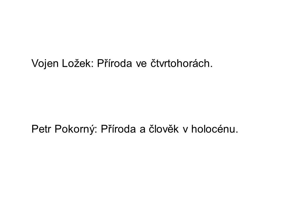 Vojen Ložek: Příroda ve čtvrtohorách. Petr Pokorný: Příroda a člověk v holocénu.