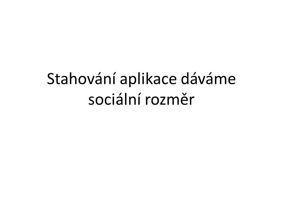 Stahování aplikace dáváme sociální rozměr