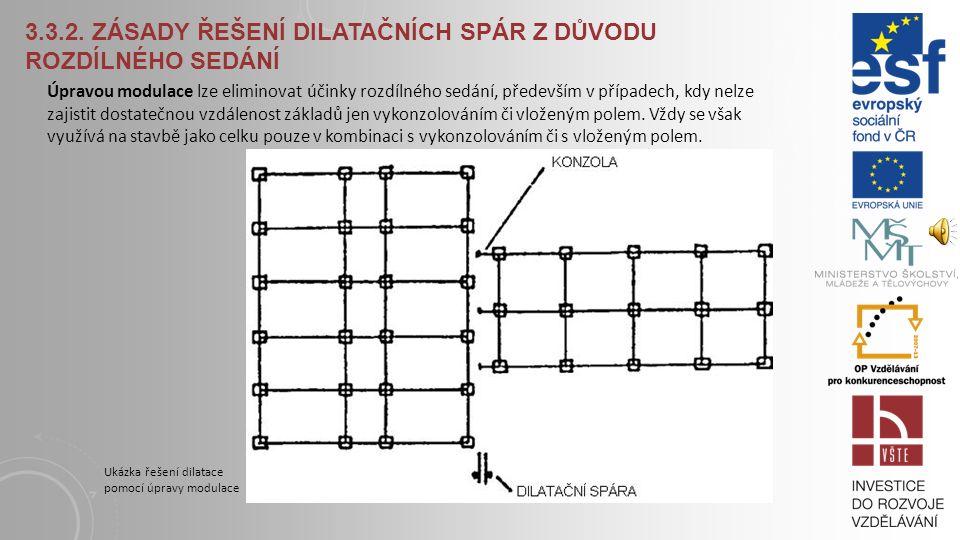 3.3.2. ZÁSADY ŘEŠENÍ DILATAČNÍCH SPÁR Z DŮVODU ROZDÍLNÉHO SEDÁNÍ Vložené pole je oboustranně kloubově uložený prvek (deska, průvlak, trám, panely), kt