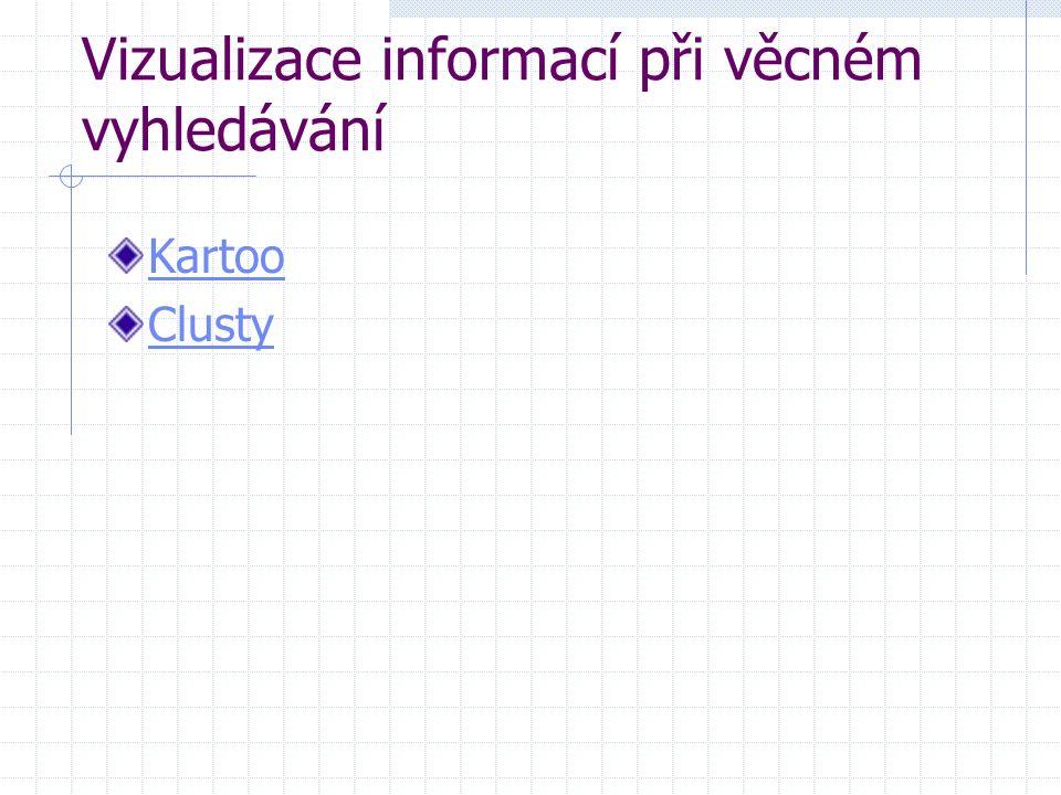 Vizualizace informací při věcném vyhledávání Kartoo Clusty